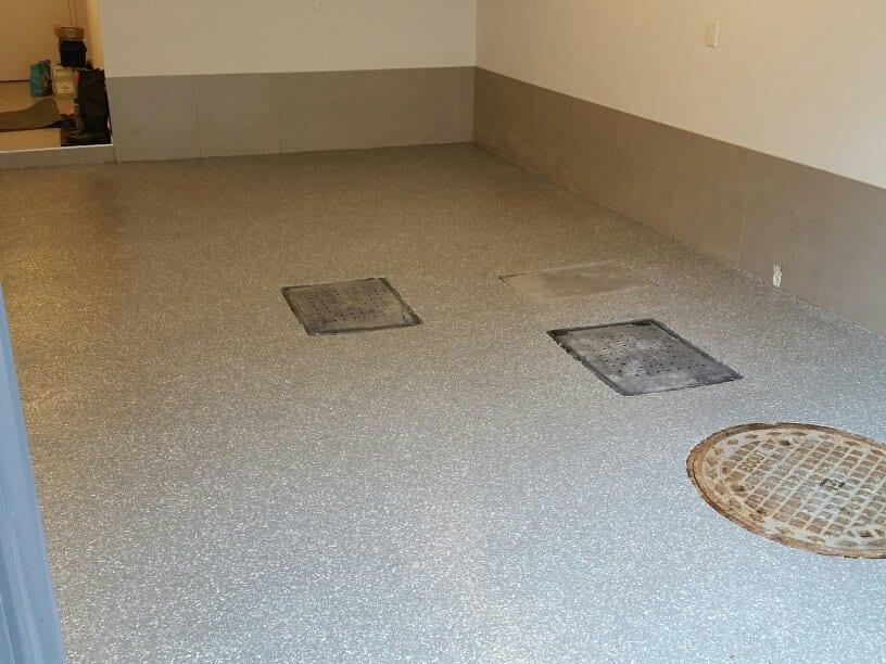refaire votre plancher de salle de bain b ton surface. Black Bedroom Furniture Sets. Home Design Ideas