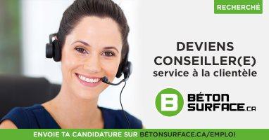Poste de Consultant en Vente - Béton Surface