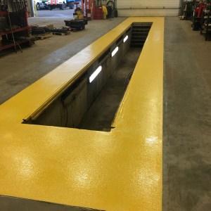 Slurry jaune plancher commercial