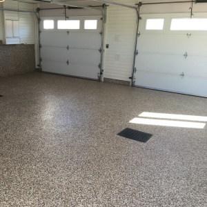 plancher de garage sable