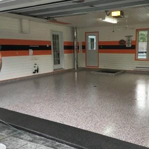 plancher garage harley