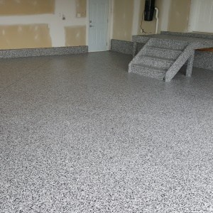 plancher garage polyurea domino