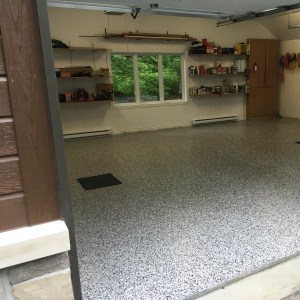 revetement plancher garage domino