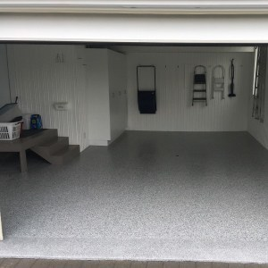 revetement plancher garage gravel