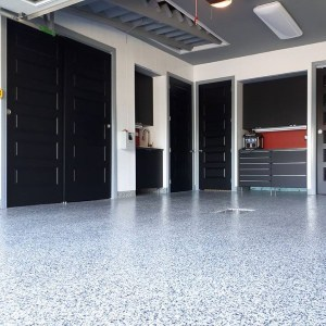 revetement plancher garage polyure flocon zone domino
