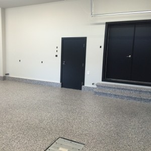 revetement plancher garage polyurea flocons stampede