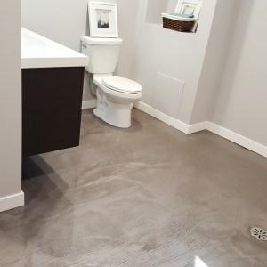 Salle de bain époxy métallique