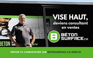 Recherche un Consultant en ventes chez Béton Surface